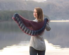 The Tobermory shawl is named after an impossibly beautiful seaside town on the Isle of Mull in Scotland, where brightly painted buildings sparkle against the dark blue bay. Legend has it that a Spanish galleon laden with gold lies at the bottom of that bay, lost in the 16th Century and never recovered.