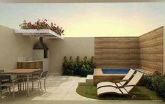 Top Backyard Deck And Patio Ideas – Wood And Composite Decking Designs - Di Home Design Small Backyard Pools, Small Pools, Backyard Patio, Backyard Ideas, Pool Decks, Patio Ideas, Small Gardens, Outdoor Gardens, Roof Gardens