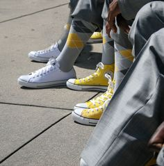 Grey Socks, Pantone Color, Suspenders, Converse Chuck Taylor, High Top Sneakers, Pairs, Yellow, Shoes, Gray