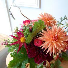 add geranium leaves, succulents and a more diverse palette