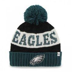 b21aec9e90ea17 Philadelphia Eagles '47 Brand Women's Swanson Cuff w/Pom Knit Beanie Green.  My