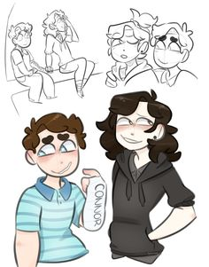 Bilderesultater for tree bros fan art Dear Evan Hansen Fanart, Dear Evan Hansen Musical, Evan And Connor, Dear Even Hansen, Connor Murphy, Hansen Is, Arte Sketchbook, Out Of Touch, Character Design
