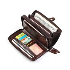 Genuine Leather Clutch Bag 7 Card Slots Business Vintage Card Bag Wallet For Men is hot-sale, many other cheap clutch bags on sale for men are provided on NewChic. Leather Clutch Bags, Leather Handbags, Leather Wallet, Man Purse, Rfid Wallet, Men Wallet, Purses And Bags, Men's Bags, Retro