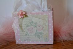 Small unique shabby chic gift bag by steppnout on Etsy, $4.00