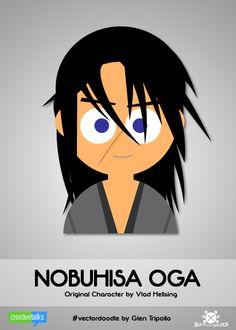 """NOBUHISA OGA"", original character by Vlad Hellsing. #VectorDoodle by Glen Tripollo"