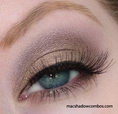 Love this Mac eyeshadow combination, Patina and Satin Taupe.