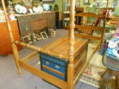 Ethan Allen Four Post Twin Bed Frame - $75