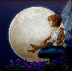 little moon fairy Fairy Land, Fairy Tales, Fairy Dust, Moon Fairy, Fable, Elves And Fairies, Moon Pictures, Good Night Moon, Moon Magic