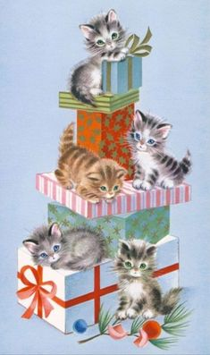 papel de carta - Gifts and Costume Ideas for 2020 , Christmas Celebration Vintage Christmas Images, Retro Christmas, Vintage Holiday, Christmas Pictures, Christmas Greetings, Xmas, Vintage Greeting Cards, Vintage Postcards, Christmas Kitten