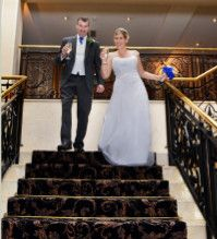 Descending the Stairs on Their Wedding Day