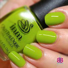 Glow Worm by INM #greenpolish #greennails #INMNails #inmrocks #inm