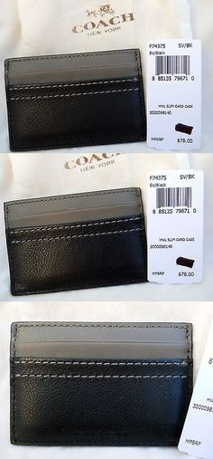Business and credit card cases 105544 6 leather business card business and credit card cases 105860 coach leather slim card case heritage web reheart Image collections