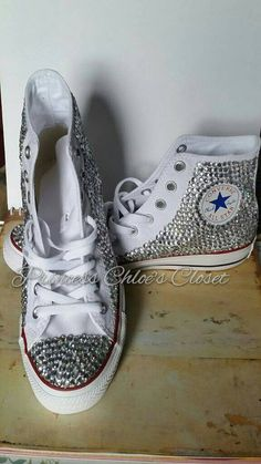 3773a88cd7df Adult full bling converse by PrincessChloesCloset on Etsy