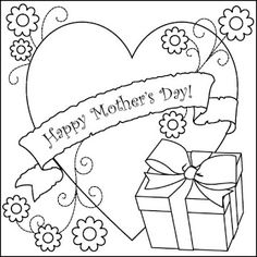 Print Mother's Day Coloring Page Gift coloring page & book. Your own Mother's Day Coloring Page Gift printable coloring page. With over 4000 coloring pages including Mother's Day Coloring Page Gift . Online Coloring Pages, Flower Coloring Pages, Free Printable Coloring Pages, Coloring For Kids, Coloring Pages For Kids, Coloring Books, Colouring Sheets, Free Printables, Mothers Day Pictures
