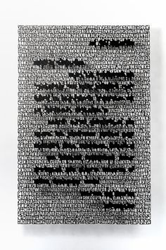 Cut paper art by Pablo Lehmann - Correspondence, cut paper, 2013