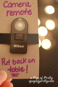remote for photobooth camera