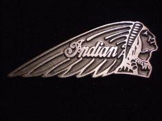 vintage pewter biker pin indian motorcycle by masterengravers
