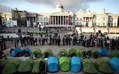 Tent City in Trafalgar Square