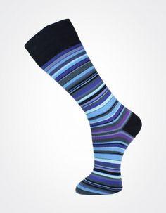 Effio X Effio Bloom of Life - Glorious no.717 #Men #Fashion #Socks #Stripes #Blue