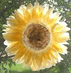 Fall Crafts for Kids | Autumn Coffee Filter Sunflowers, continued