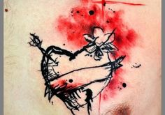 A person suffering from broken heart syndrome can go to any length to convey his pain and this weird tattoo is a good sample. Description from creativefan.com. I searched for this on bing.com/images