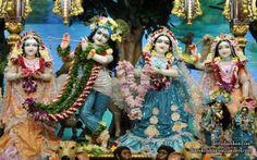 To view Radha Gopinath Wallpaper of Chowpatty in difference sizes visit - http://harekrishnawallpapers.com/sri-sri-radha-gopinath-lalita-vishakha-wallpaper-074/