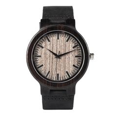 Wood Watches Quartz Watch Real Leather Band Wooden Special WristWatch