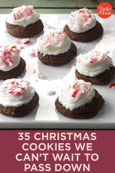 Holiday Baking, Christmas Desserts, Christmas Treats, Christmas Baking, Christmas Foods, Merry Christmas, Delicious Cookie Recipes, Chocolate Cookie Recipes, Baking Recipes