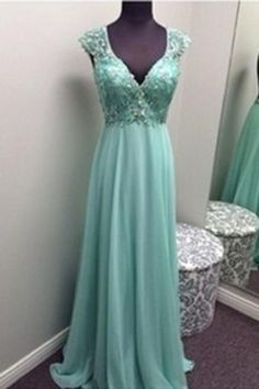 2017 New Arrival Long Prom Dress chiffon open back A-line long teenage prom dress, cheap graduation dress