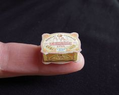 Betsy Niederer, tiny nougat box (12th scale dollhouse miniature)