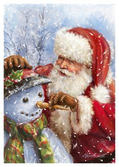 Santa Claus, St. Nick, Father Time, Kris Kringle #Santa ~~  Marcello Corti - XM1789.jpg