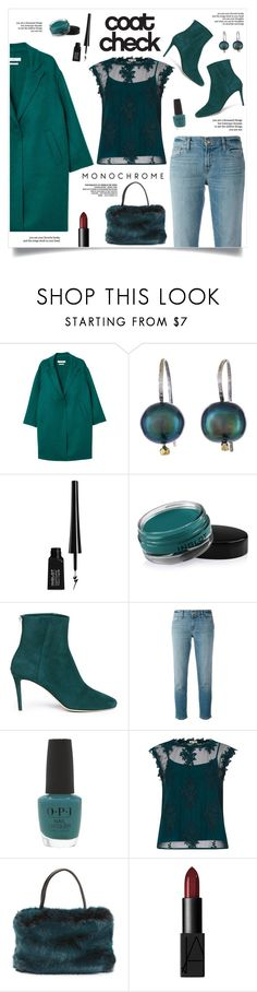 """Coat Check!"" by diane1234 ❤ liked on Polyvore featuring MANGO, Orduna Design, Inglot, Jimmy Choo, J Brand, OPI, River Island, Reverie and NARS Cosmetics"