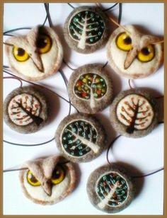 Needle felted pendants - SShaw
