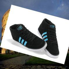 Adidas Originals Stile NEO Mid Scarpe da Uomo Nero/Blu