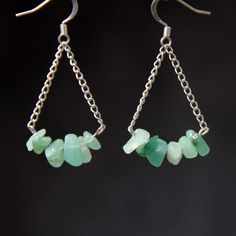 Green Jade tear drop dangling hoop Earrings Bridesmaids gifts Free US Shipping handmade Anni Designs by AnniDesignsllc on Etsy https://www.etsy.com/listing/228200816/green-jade-tear-drop-dangling-hoop