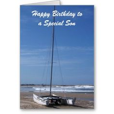 #Catamaran #Boat #Son #Birthday #Card