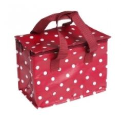 Red with white spots Lunch bag by REX International