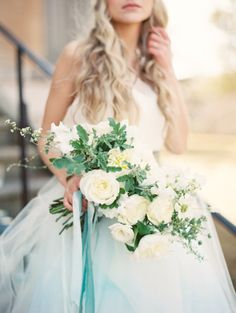 Cascading bouquet: http://www.stylemepretty.com/2014/08/07/natural-spring-wedding-inspiration/ | Photography: When He Found Her - http://whenhefoundher.com/