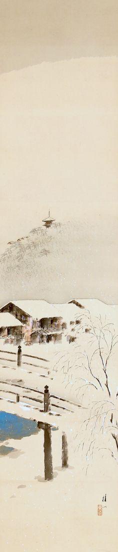 Landscape by Hirai Baisen 平井楳仙 (1889-1969), Showa period.