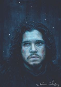 Jon+Snow+(Game+Of+Thrones)+Digital+painting+by+joannatu.deviantart.com+on+@DeviantArt