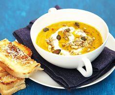 Mrkvová polévka se semínky Cheeseburger Chowder, Soup, Soups