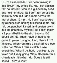 Cheer is a sport!