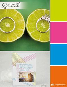 Neon Wedding Color Palette | Wedding Color Trends | MagnetStreet Weddings Love that this has both our favorite colors!