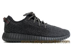 1954f1e53311b Adidas Originals Chaussures Homme Femme Yeezy Boost 350 Pirate Black (2016  Release) Noir