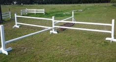 Another example of a four corners jump. The middle standard would need to have holes for the jump cups on both sides.