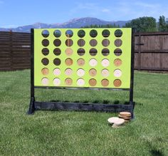 This Four in a Row board is a really great addition to any back yard. It's enjoyable for everyone to play! And it is easy to store when not in use.