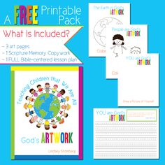 Free Printables: Teaching Children That We Are All God's Artwork Set