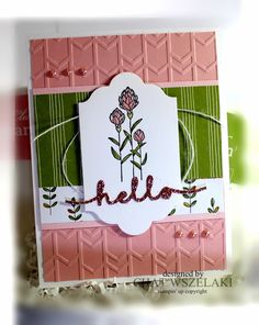 Hello Peeps !!!     Happy Monday !!!     This Flowering Fields stamp set with the Wildflower Fields DSP seem to go together.   I ...