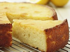 The combination of fresh lemon juice and yogurt gives this cake a wonderfully fresh taste and moist texture.