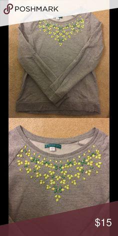 Jeweled sweatshirt! Beautiful jeweled sweatshirt! Update any wardrobe with this fun one :) Pim + Larkin Tops Sweatshirts & Hoodies